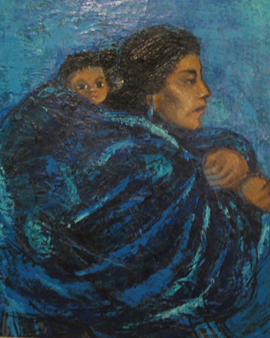 Blue Madonna 1958 Very Early Work 32x28