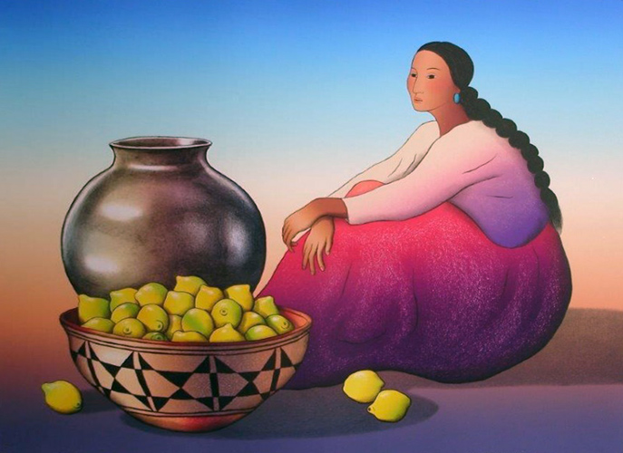 Woman With Lemons 1988
