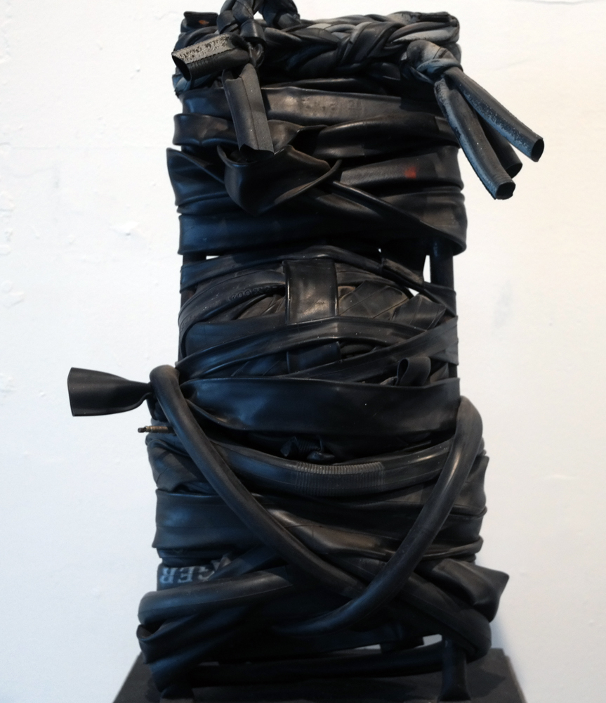 Self Portrait in Rubber Sculpture 2010 22 in