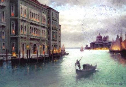 Evening on Venice Canal 2014 by Vasily Gribennikov
