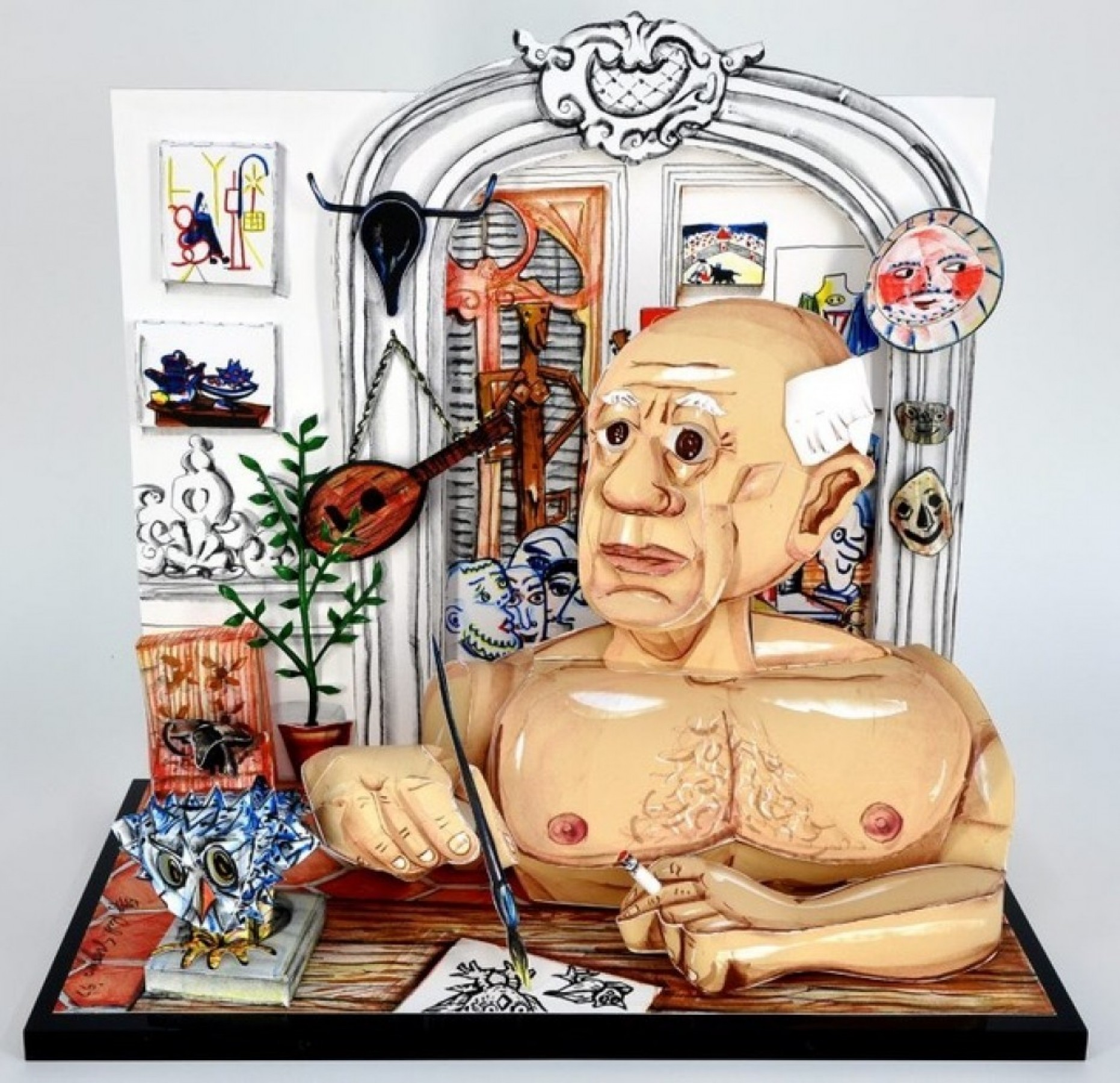 Picasso   3-D Lithographic Sculpture 1996