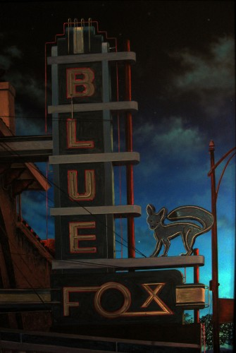 Blue Fox At Night