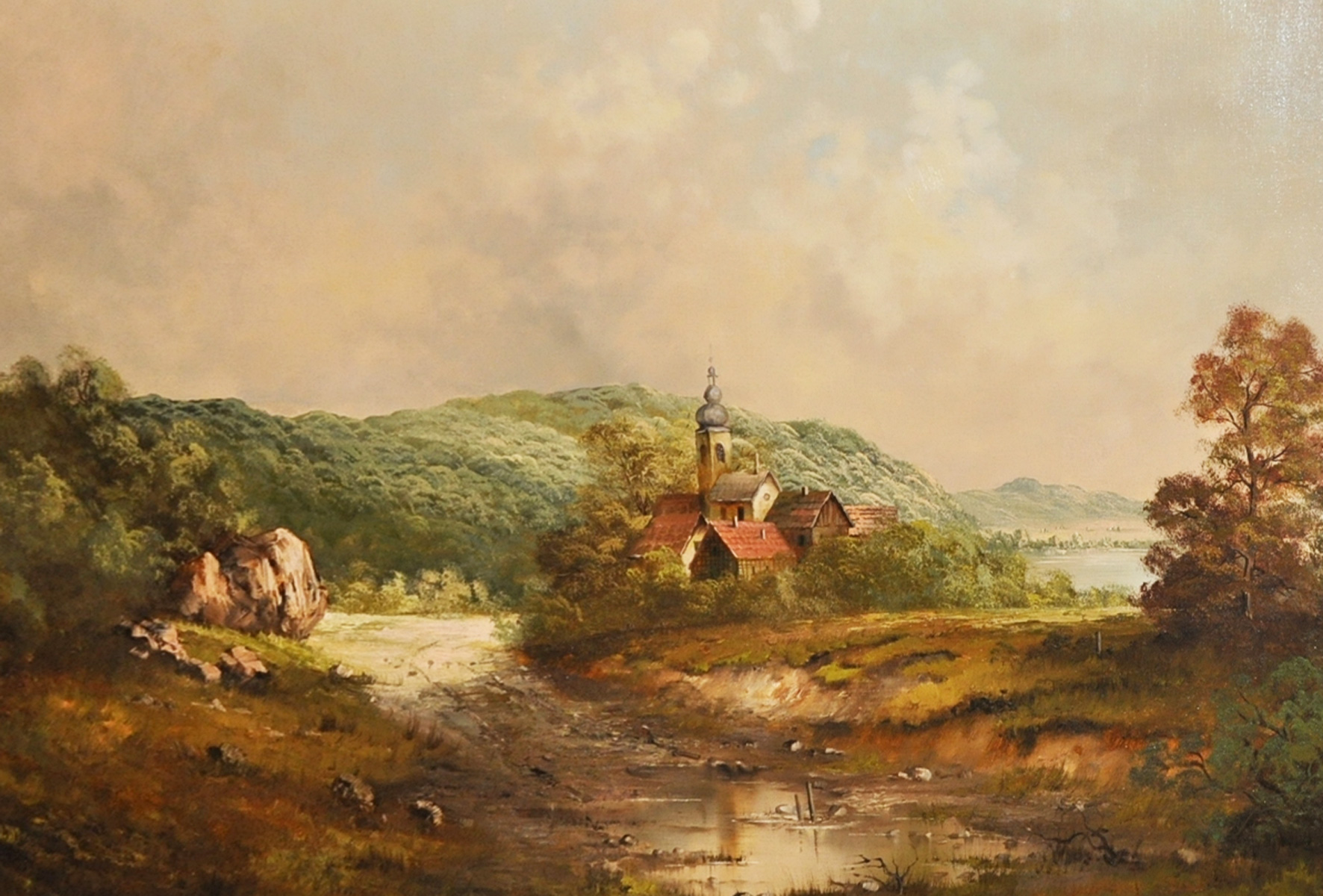 Old World Landscape 29x52