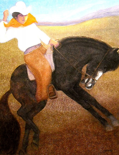 El Caballo (The Cowboy) 2010 by Ernesto Gutierrez