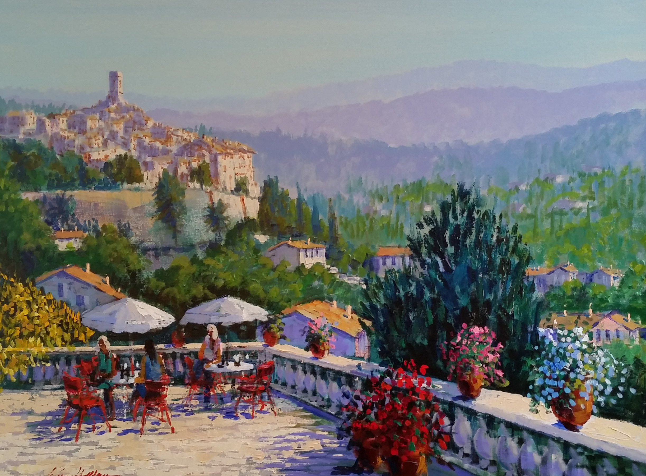 Terrace in the Midi 38x48