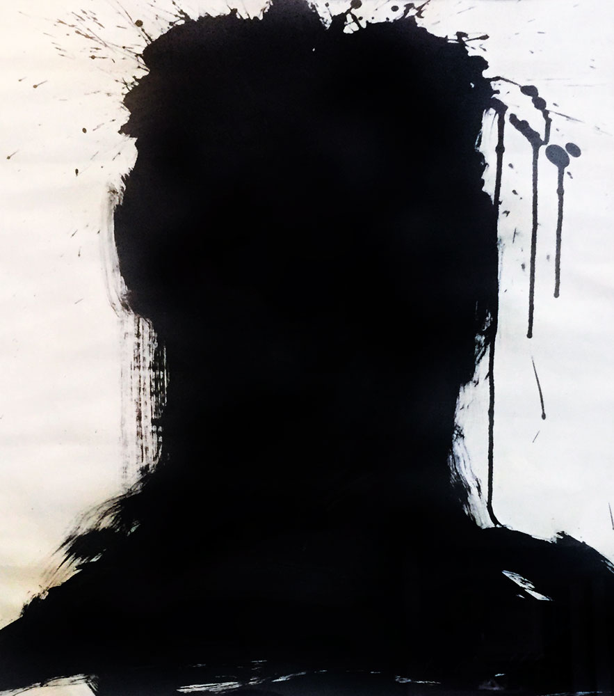 Shadow Heads 1982 23x30 by Richard Hambleton