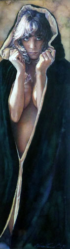 Portrait of Nude Girl With Hood (Mysteries) 1995