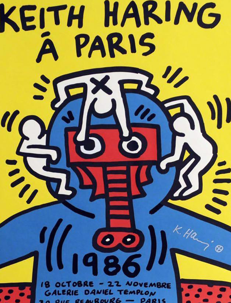 Keith Haring   1986 Paris Screenprint
