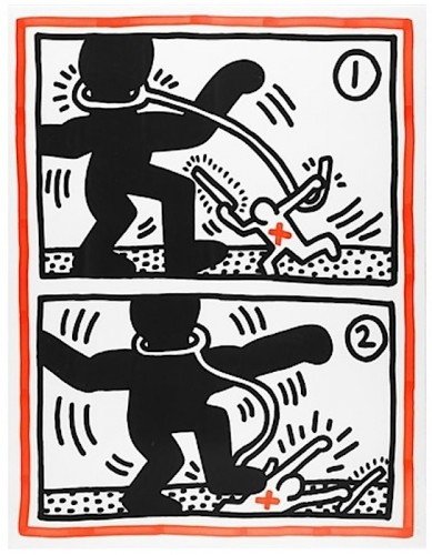 Untitled (Free South Africa #3) 1985 by Keith Haring