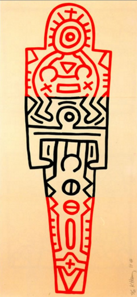 Totem AP 1989 by Keith Haring