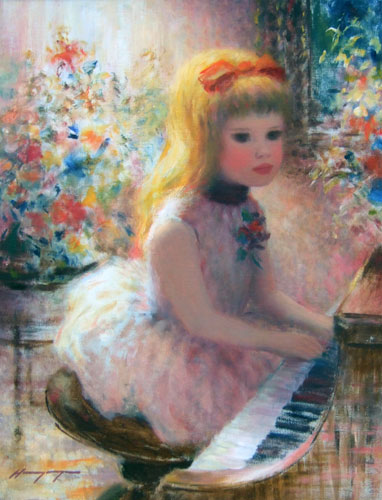 Untitled, Girl Playing with Piano