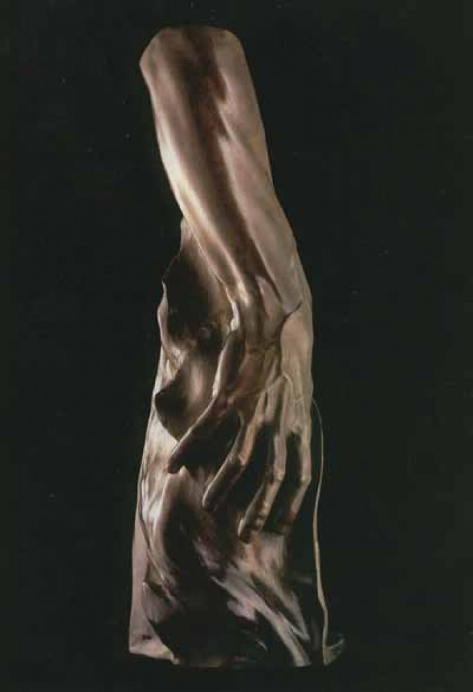 Arm of Adam Bronze Sculpture 2002 22 in