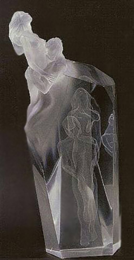 Dance of Life Acrylic Sculpture 1990 23 in