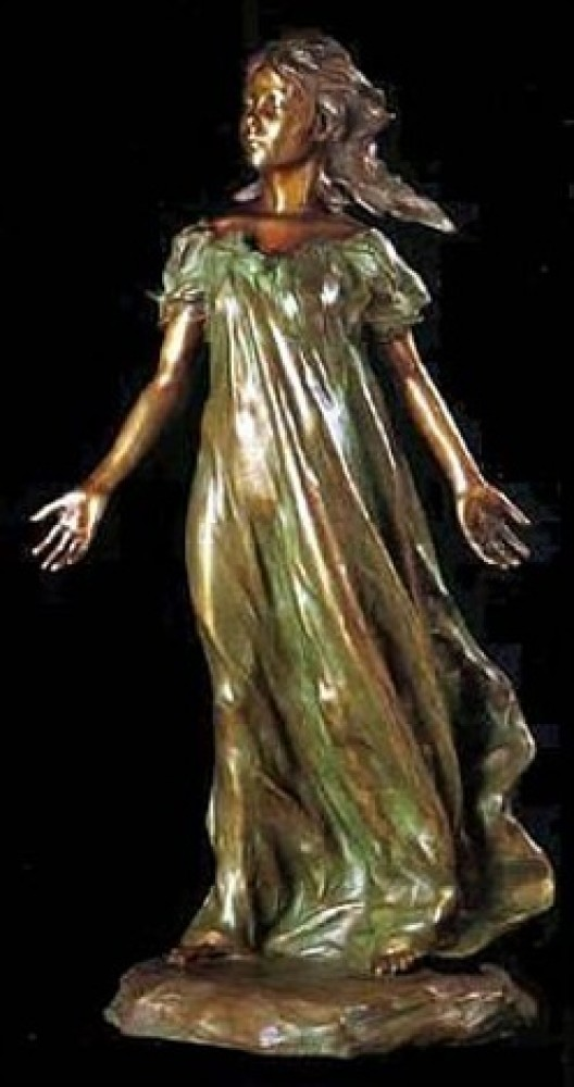 Youngest Daughter 3/4 Life Size (From the Daughters of Odessa) Bronze  Sculpture 43 in