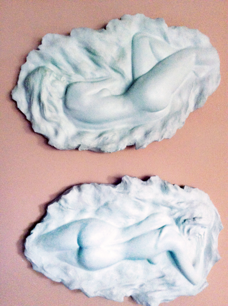 Reflections and Reverie Resin Sculpture 1980 36 in