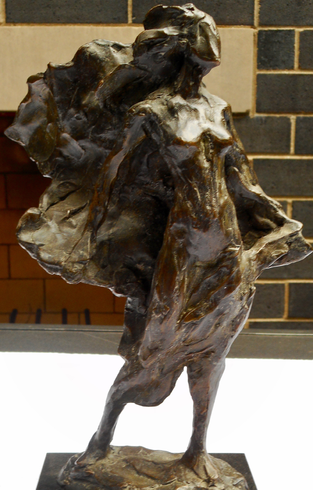 Woman With Outstretched Arms Bronze Sculpture 2006 12 in