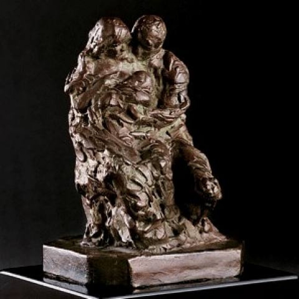 Family  Bronze Sculpture 2006 7 in