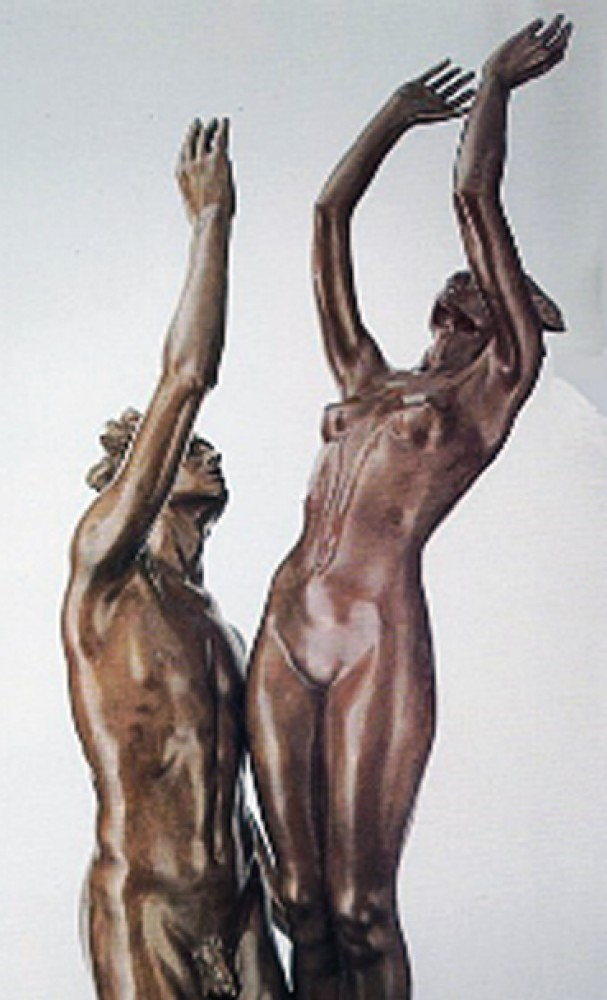 Celebration Life Size Bronze Sculpture 1991