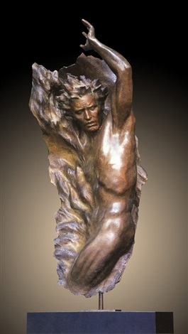 Ex Nihilo Full Figure  4, 2002 Bronze Sculpture 2002 62 in