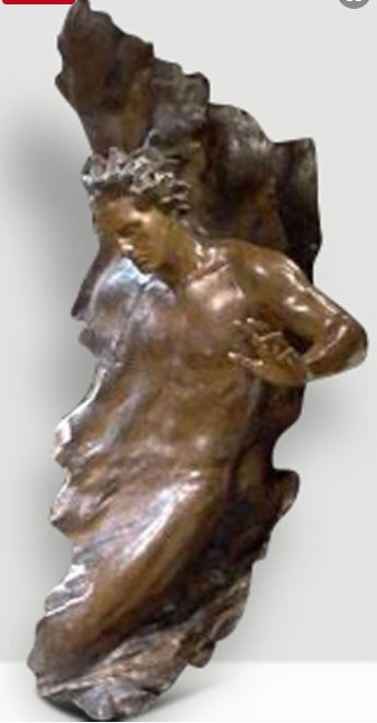 Ex Nihilo Figure 8 (Full Scale) 2004 Bronze Sculpture 68 in