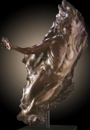 Ex Nihilo Figure 5 (Full Scale)  2006 Life Size Bronze Sculpture 74 in