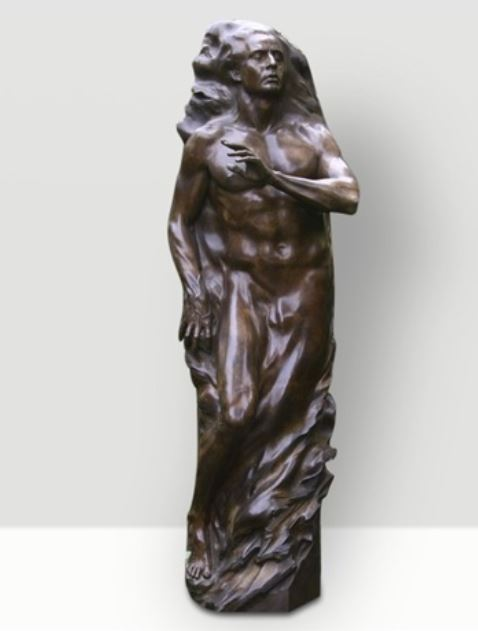 Adam Life Size Bronze Sculpture 2001 81 in