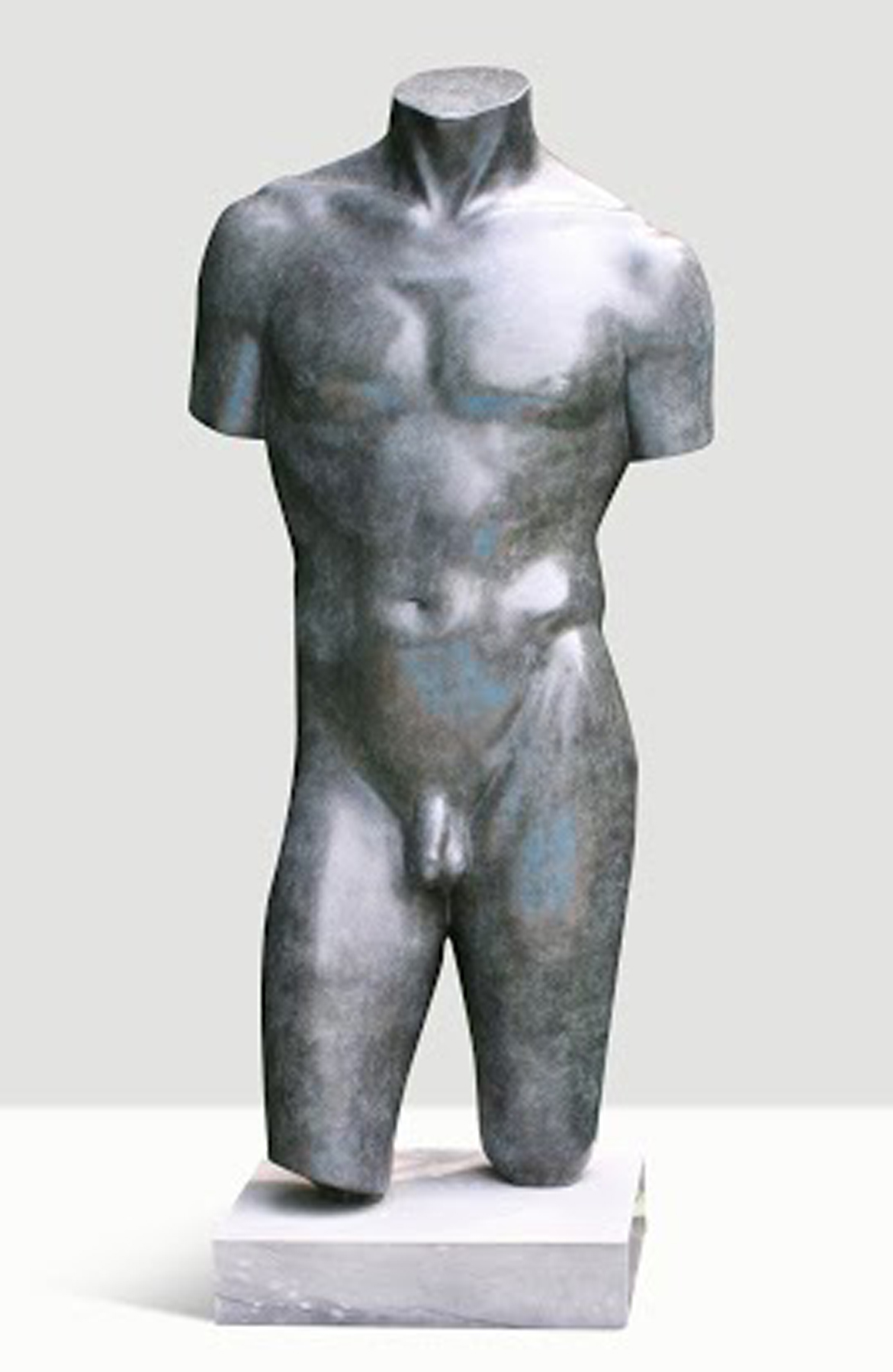 Male Torso Bronze Sculpture Collaborators Proof  1994 39 in