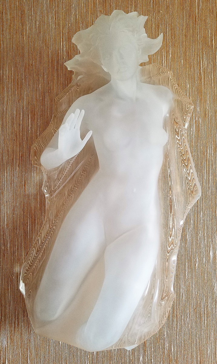Sacred Mysteries Female Acrylic Sculpture 1982 40 in