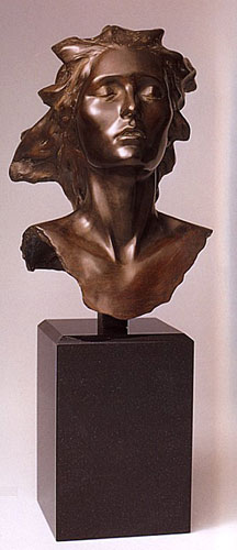 Celebration, 2002 Female Bronze Sculpture 14 in