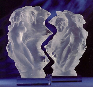 Duet: A Spiritual Song of Love Acrylic Sculpture 1996