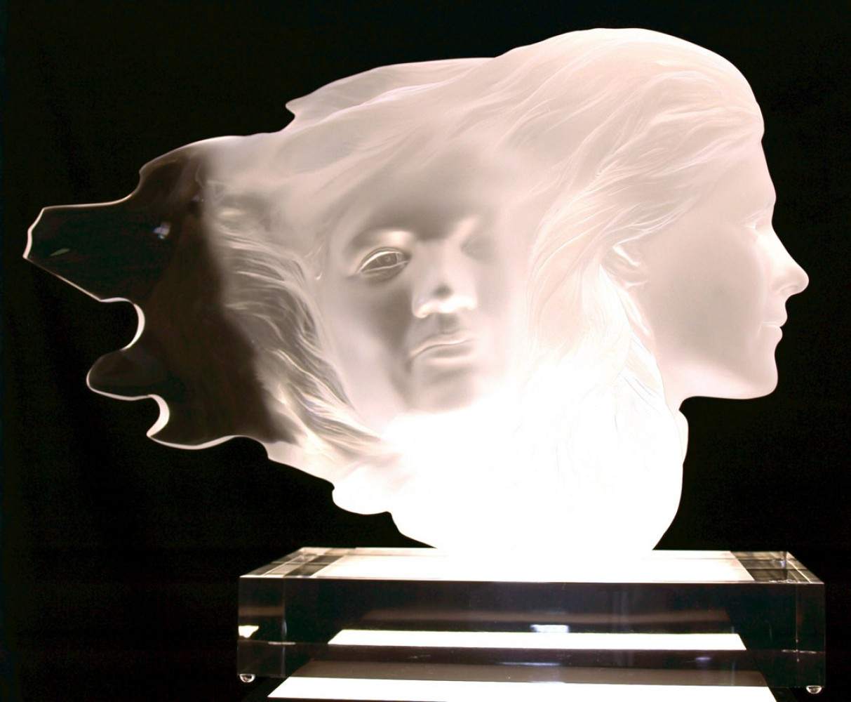 Herself Acrylic Sculpture 1984 18 in