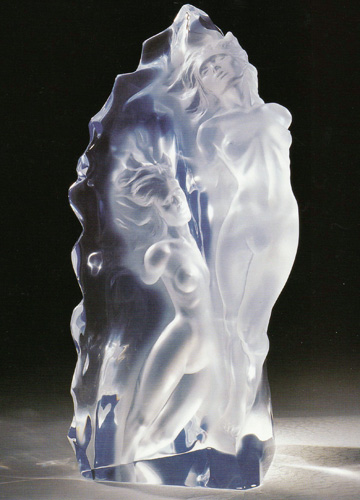Emerging Flame Acrylic Sculpture 2002
