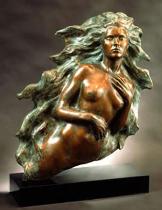Awakening of Eve 1994  Bronze  Sculpture 19 in
