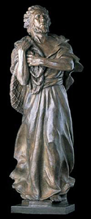 Saint Peter Life Size Bronze Sculpture 2003