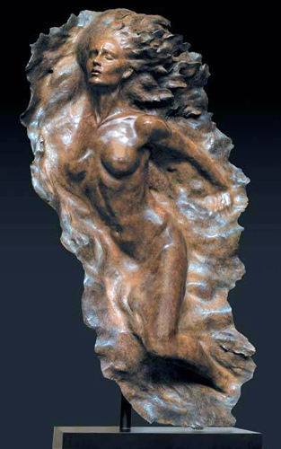 Ex Nihilo Full Figure  2, 2008 Bronze Sculpture AP 2005 64 in