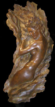 Ex Nihilo, Figure  6, 2003 Bronze Sculpture (Full Scale)  64 in