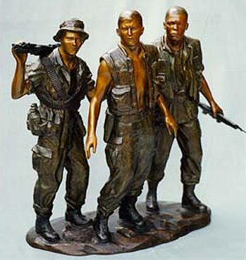 Vietnam Veterans Memorial Bronze Sculpture Three Soldiers 1984