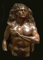 Adam Bronze Sculpture 2004 36 in