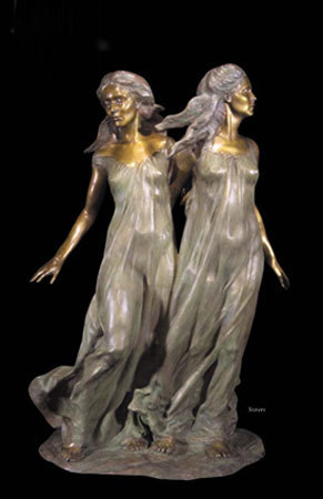 Sisters Bronze Sculpture 1997