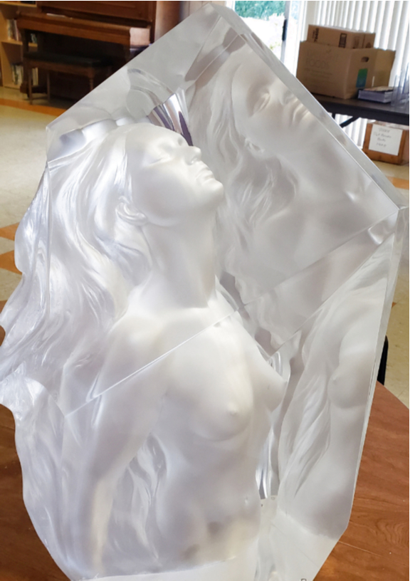 Exaltation Acrylic Sculpture 1998 23 in