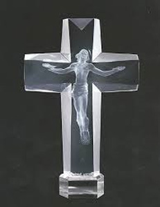 Cross of the Millenium I Acrylic Sculpture 1995