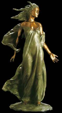 Daughter Life Size  Bronze Sculpture 2000 48 in