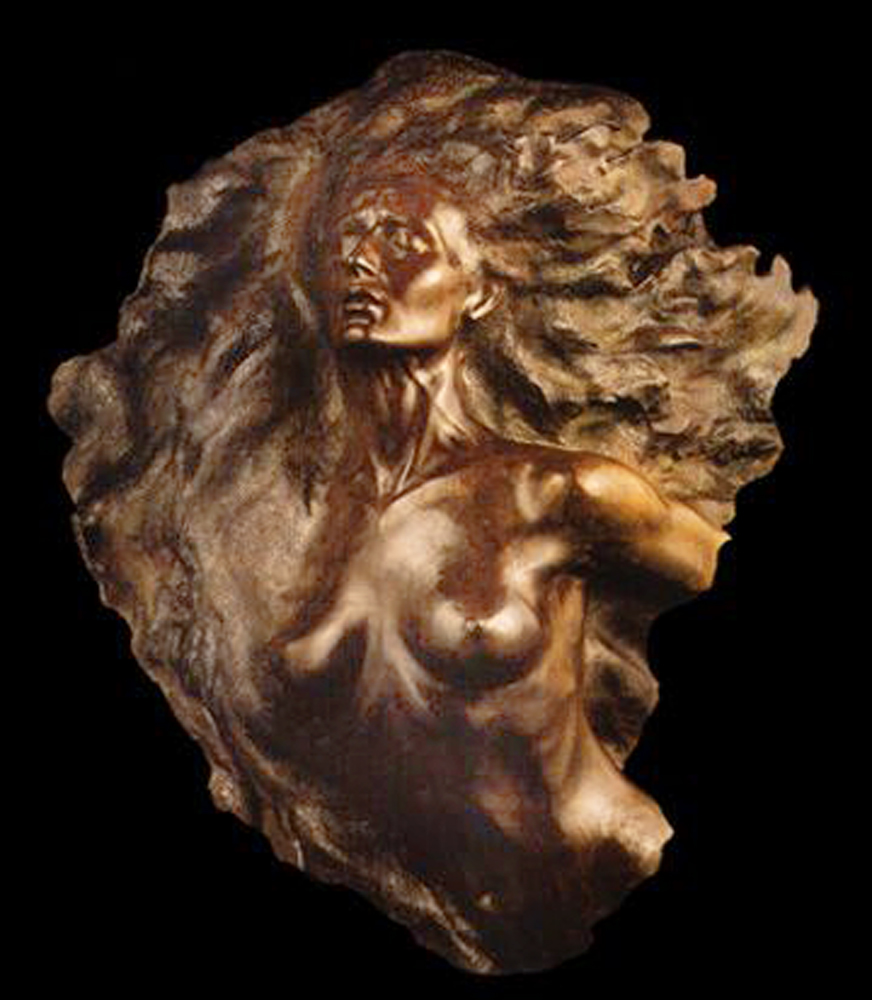 Fragment 2 Bronze Sculpture 2002 50 in