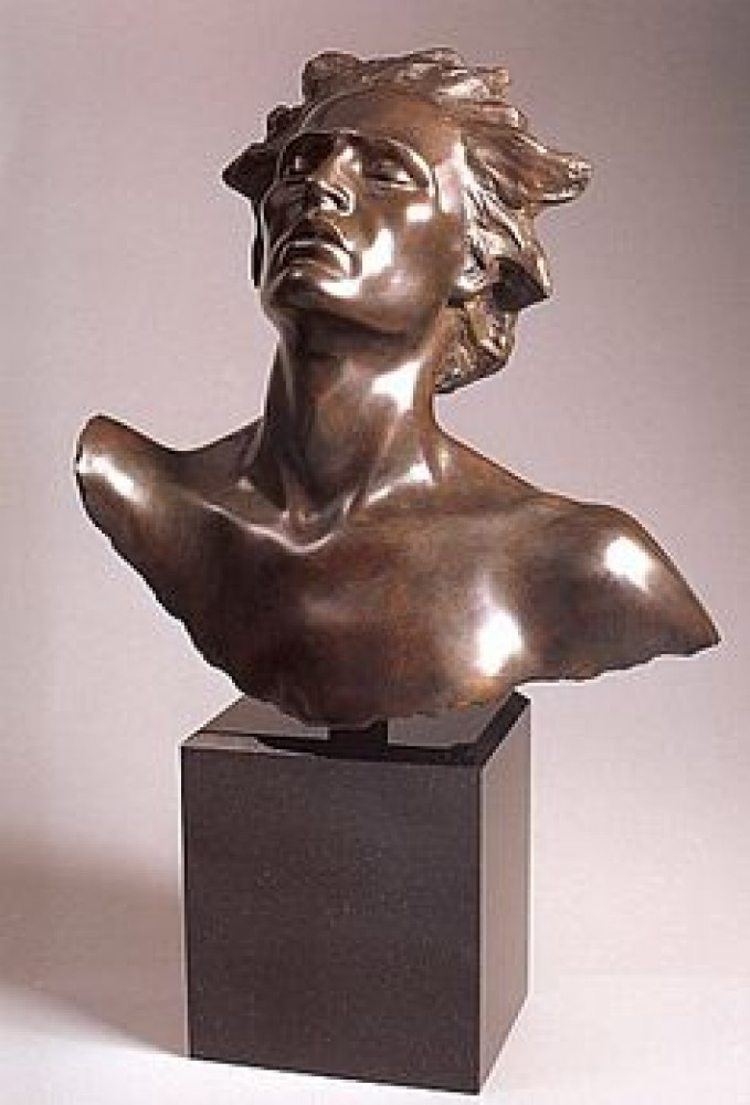 Head of Male, Celebration Bronze Sculpture 2002
