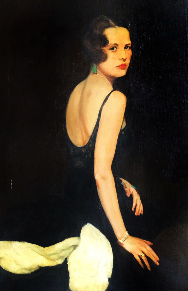 Untitled Portrait  1930 46x36 by Erik Haupt