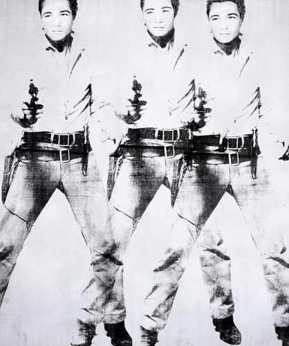 Triple Elvis 65x55 2015 by Bruce Helander