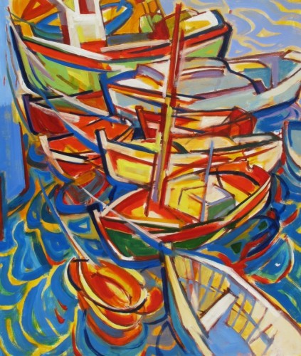 Empty Boats and Ripples 1995 by Herb Kornfeld