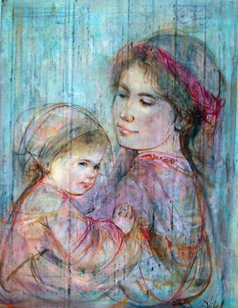 Mother Holding Child 18x15