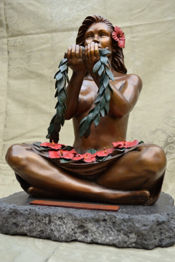 Spirit of Aloha Bronze Sculpture 2010 15 in