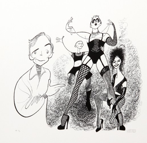 Rocky Horror Picture Show (Dick Cavet) PP by Al Hirschfeld